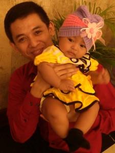 Yoseph dari PT Garuda Indonesia bersama (keponakan)