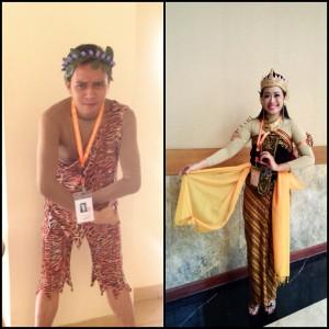 Peserta pria perwakilan dari PT. Garuda indonesia dan peserta wanita perwakilan dari  PT Telkom 147 Semarang