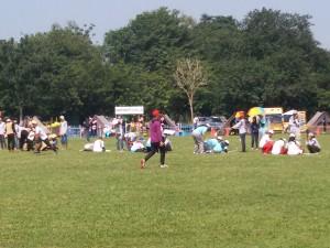 Suasana lomba sandi buku peserta jambore
