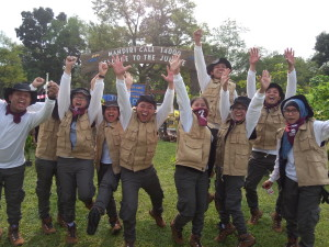 Keceriaan peserta dari PT Bank Mandiri (Persero) Tbk