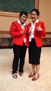 Mida dan Elva, perwakilan dari PT. Administrasi Medika