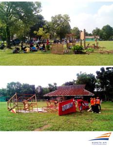 Pembongkaran tenda PT. Bank Mandiri (Persero) Tbk . dan PT. Kereta Api Indonesia (Persero)