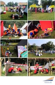Para peserta Jambore saat lomba memasak dan menghias balon
