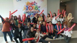 Kemeriahan para pendukung PT. Telekomunikasi Indonesia